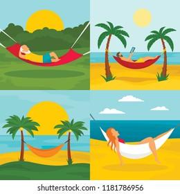 Hamac Homme Stock Illustrations Images Vectors Shutterstock