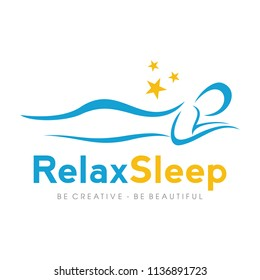 Rest / Massage / Sleep / Spa Logo Design Inspiration Vector