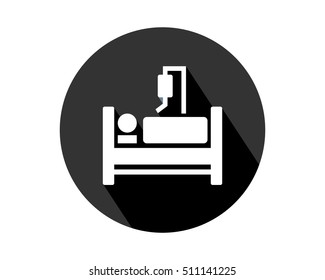 rest patient medical medicare health care pharmacy clinic image vector icon