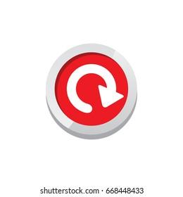 restart game asset icon sign symbol button vector art
