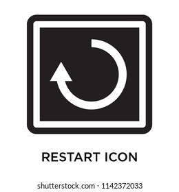 Restart icon vector isolated on white background for your web and mobile app design, Restart logo concept