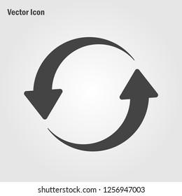 Restart icon vector. reload