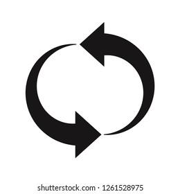 Restart icon vector. Update,Reload,Refresh,Reset symbols.