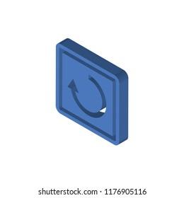 Restart isometric left top view 3D icon