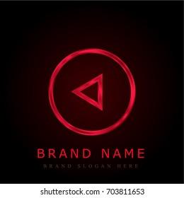 Restart red chromium metallic logo