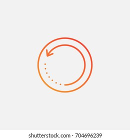 Restart rotation icon.gradient illustration isolated vector sign symbol