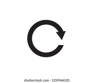 Restart symbol arrow direction icon