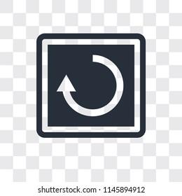 Restart vector icon isolated on transparent background, Restart logo concept