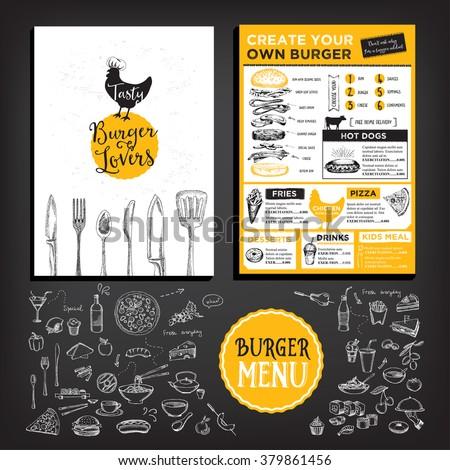 restaurant brochure vector menu design vector stock vector royalty