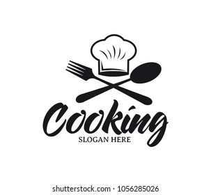 restaurant cafe bistro cooking chef vector logo design template
