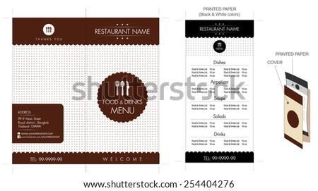 restaurant cafe menu design small business stock vector royalty