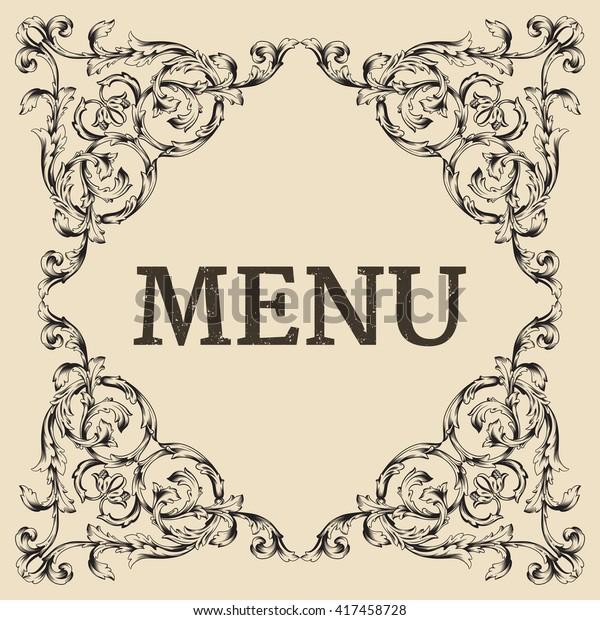 Restaurant Cafe Menu Label Design Old Stock Vector (Royalty