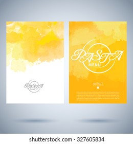 Restaurant cafe vector menu cover template of pasta