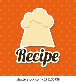 Restaurant design over orange background, vector illustration