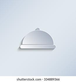 Restaurant dish - paper vector icon