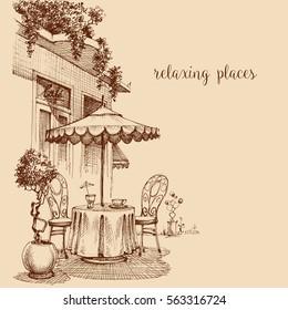 Ilustraciones Imágenes Y Vectores De Stock Sobre Terrazas