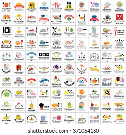 Restaurant Flat Icons Set - Isolated: Vector Illustration, Graphic Design. Collection Of Colorful Icons. For Web, Websites, Print, Presentation Templates, Mobile Applications And Promotional Materials