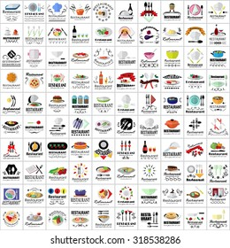 Restaurant Flat Icons Set: Vector Illustration, Graphic Design. Collection Of Colorful Icons. For Web, Websites, Print, Presentation Templates, Mobile Applications And Promotional Materials