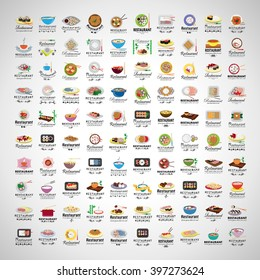 Restaurant Flat Icons Set-Isolated On Gray Background.Vector Illustration,Graphic Design.For Web,App,Websites,Print,Presentation Templates,Mobile Applications And Promotional Materials.Asian Concept