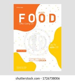 Restaurant food flyer template, modern food menu flyer design, dinner buffet offer Commercial Use