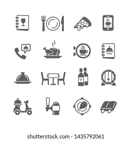 Restaurant and food icon set