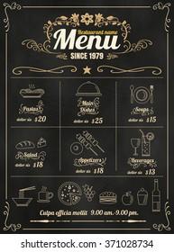 Menu Board Images, Stock Photos & Vectors | Shutterstock