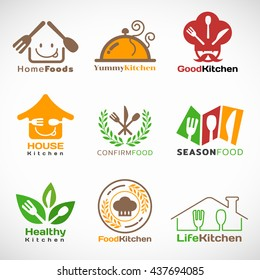 Restaurant and Home kitchen logo vector set design