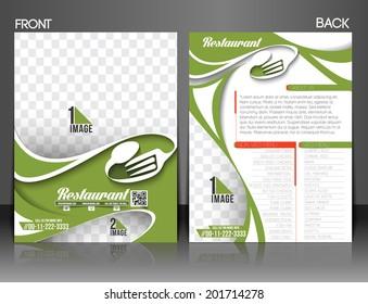 Restaurant & Hotel Front & back Flyer Template
