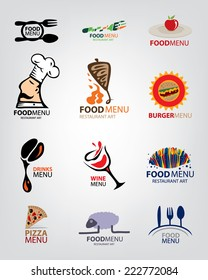 Restaurant Icon Collection, Various Food Types, Arabic, Western etc (Vector Art)