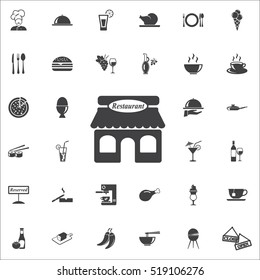 restaurant icon on the white background. restaurant set of icons.