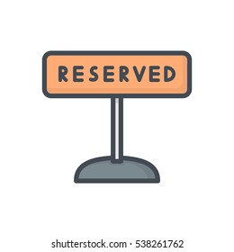 Restaurant Icon reserved sign