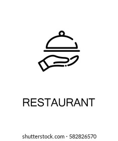 Restaurant icon. Single high quality outline symbol for web design or mobile app. Thin line sign for design logo. Black outline pictogram on white background