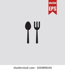 Restaurant icon in trendy isolated on grey background.Vector illustration.