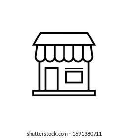 restaurant icon vector illustration. restaurant icon line style design