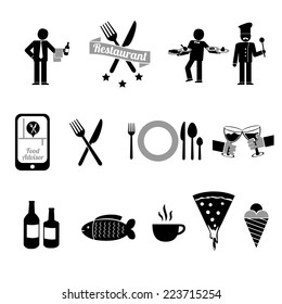 Restaurant icons / symbols collection