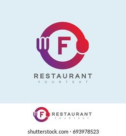 restaurant initial Letter F Logo design