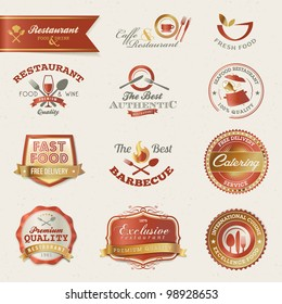 Restaurant labels and elements