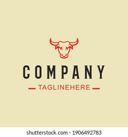 A restaurant logo concept with Cow head symbol