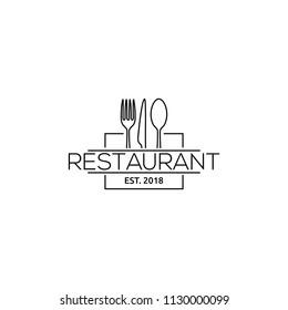 Restaurant logo design concept. Culinary symbol. Food or eat place mark