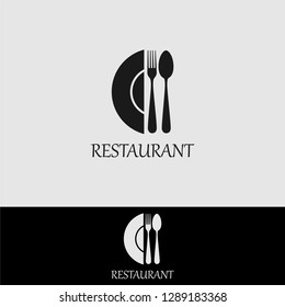 Restaurant logo design vector illustration. good for restaurant menu and cafe badge