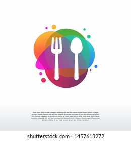 Restaurant logo designs concept vector, Color Food logo designs template