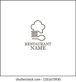 restaurant logo, spoon and fork