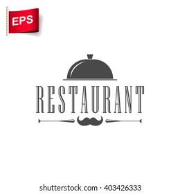 restaurant logo, vector restaurant menu, isolated restaurant sign