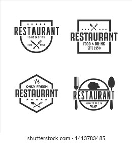 Restaurant Logo Vector Set Collection