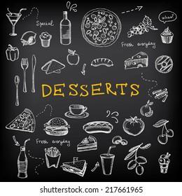 Restaurant menu. Bakery and cafe. Template design.Vector illustration.