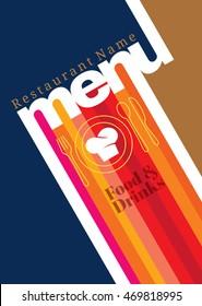 Restaurant menu card design template, Creative vector.