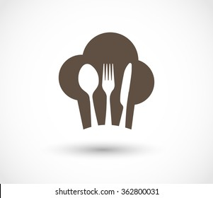 Restaurant menu cook icon vector
