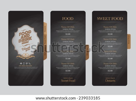 restaurant menu design stock vector royalty free 239033185