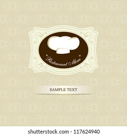 Restaurant menu design / Menu design with chef hat