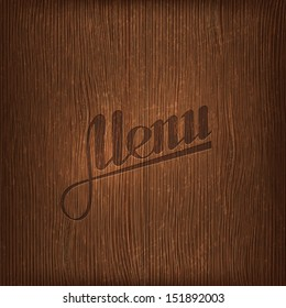 restaurant menu design on wood background
